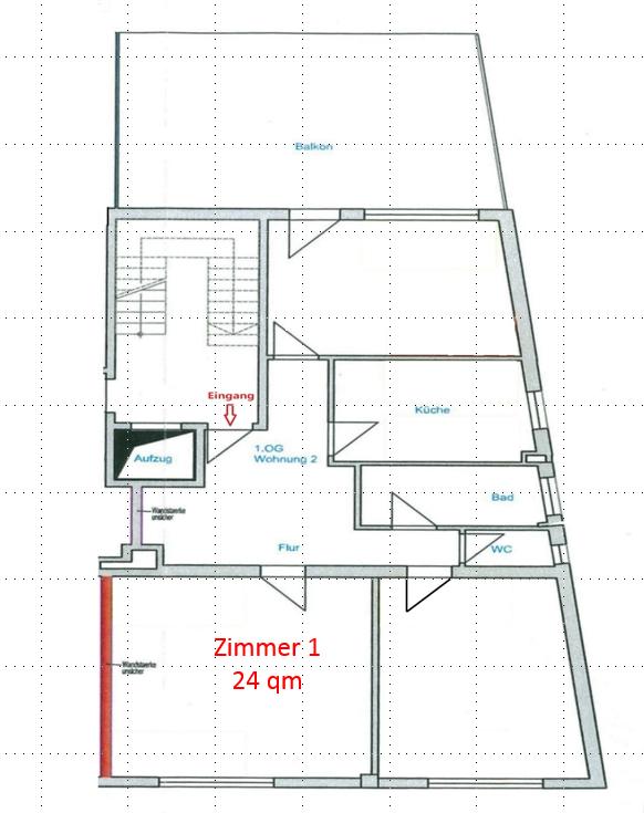 Grundriss_Zimmer 1 24qm