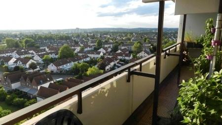 Weitblick vom großzügigen Balkon