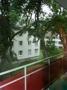 Blick von einem der Balkone in den Garten