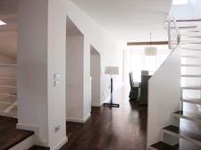 Blick vom Treppenabsatz ins Esszimmer