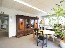 Ansicht Chefbüro mit Eingangsbereich
