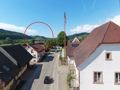 Blick von den neuen Balkonen auf die Hochburg