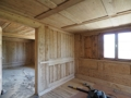 Freilegung der alten Holzoberflächen (Rohbauzustand)