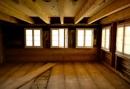 Wohnzimmer im Rohbauzustand