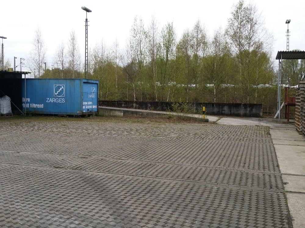 Lagerplatz vor dem ehem. Lokschuppen