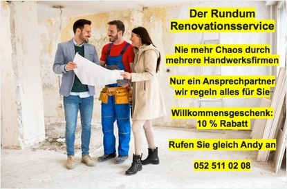 Renovation Original mit Text