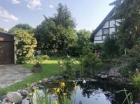 Gartenbereich mit Teich
