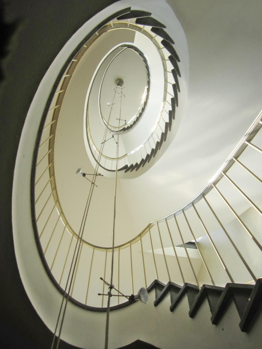Treppenhaus Blick nach oben