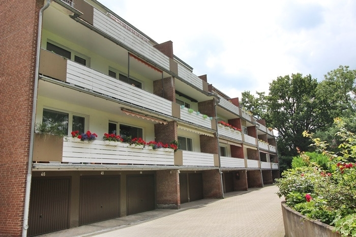 Blick  vom Innenhof Balkone