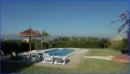 Blick von Terrasse auf den Pool