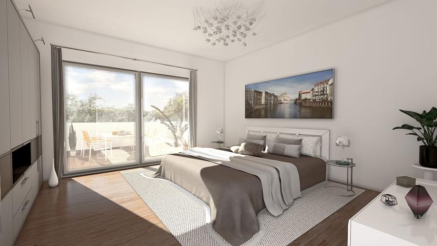 Schlafzimmer (Visualisierungsbeispiel)