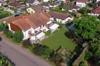 Drohnenbild mit Garten