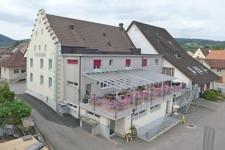 Luftbild mit Terrasse