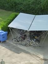 Fahrradabstellplatz im Innenhof