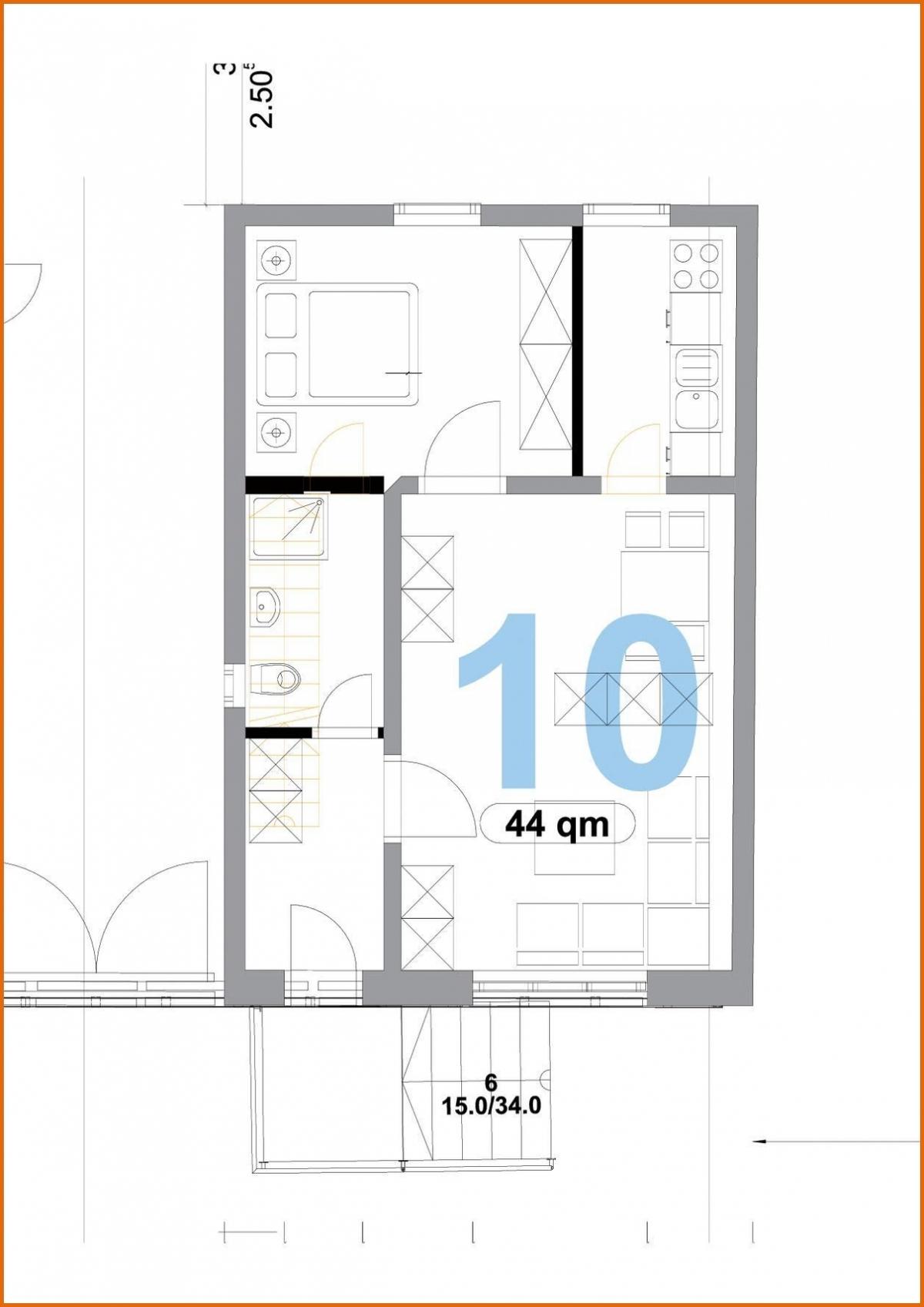 Grundriss EG Wohnung Nr. 10