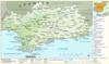 Karte von Andalusien