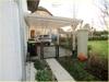 Carport mit Zugang zum Garten