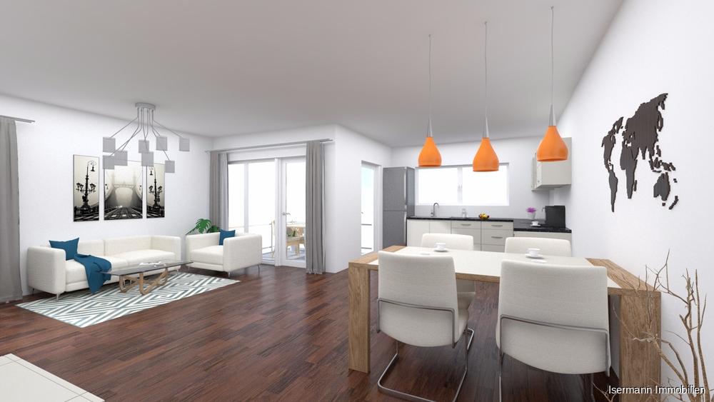 Der Wohn-/Essbereich bietet viel Platz...
