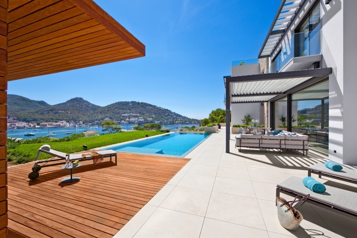 Pool und Sonnenterrassen mit Meerblick Villa Amorcito Puerto de Andratx