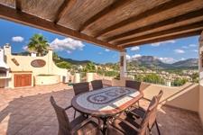 grosse Terrasse mit wunderschöner Aussicht Einfamilienhaus Camp de Mar