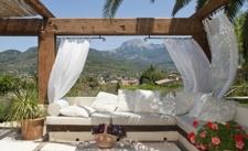Garten Lounge mit Panoramablick Finca Soller