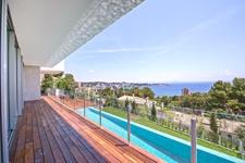 Terrasse mit Meerblick in Designer Villa Cas Catala Mallorca