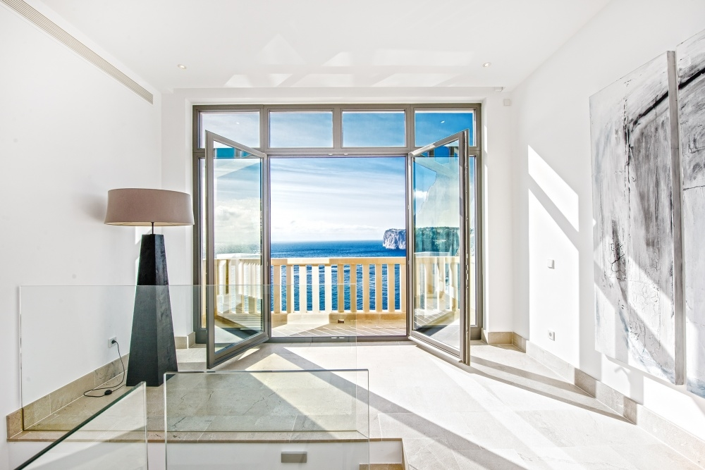 Eingangshalle mit Meerblick Villa Port Andratx