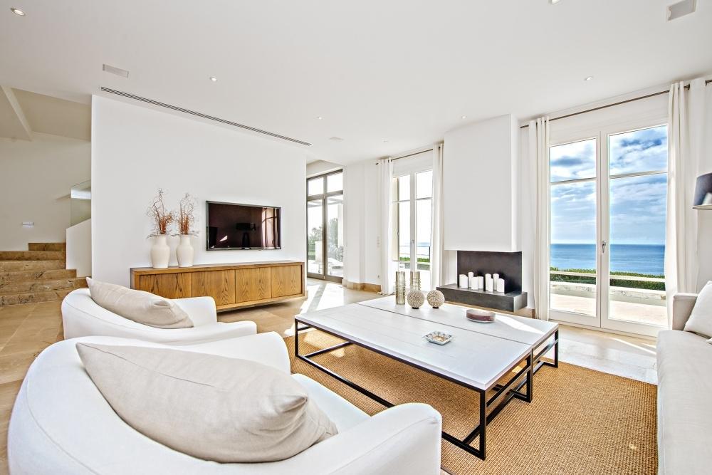 Gemütlicher Wohnbereich mit Meerblick Villa Port Andratx