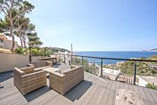 Terrasse mit Meerblick Port Andratx Mallorca