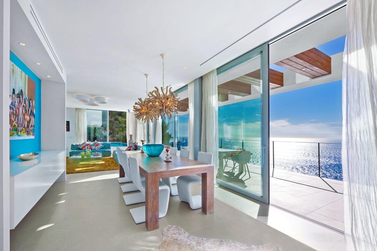 Dining Zimmer mit Terrassenzugang Meerblick Villa Port Andratx