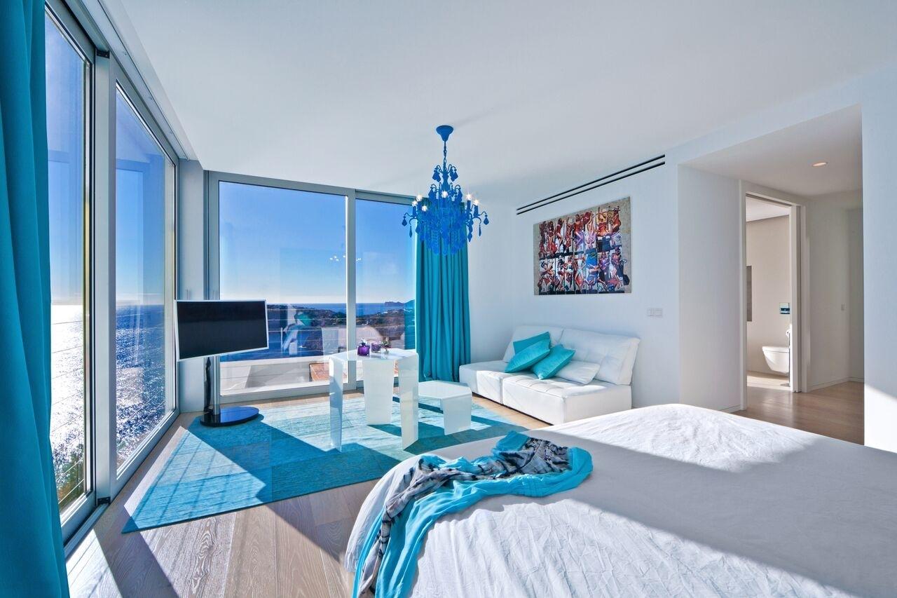 Master Schlafzimmer mit Meerblick Villa Port Andratx
