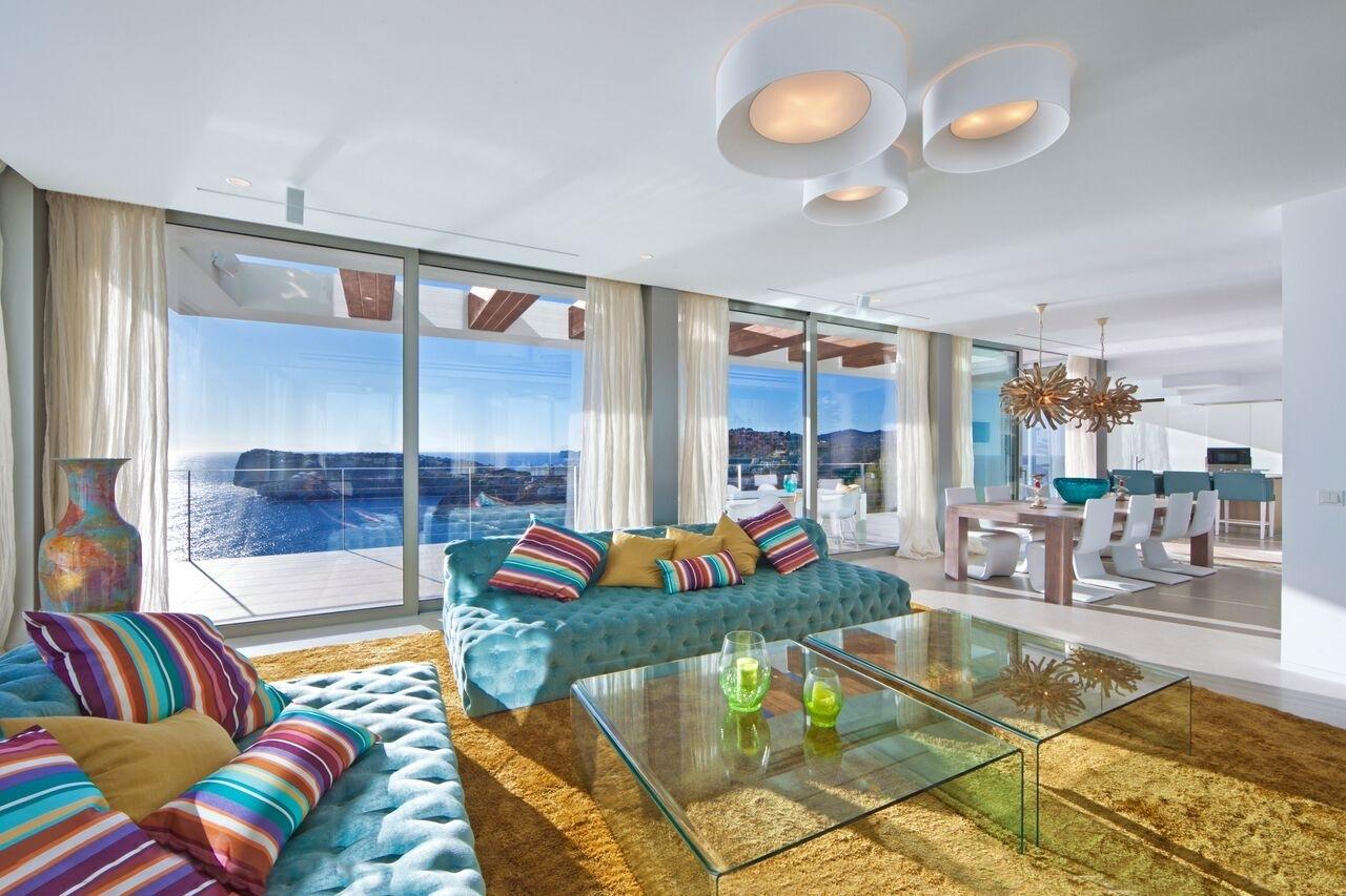 offener Wohnbereich Luxus Villa mit Meerblick Port Andratx