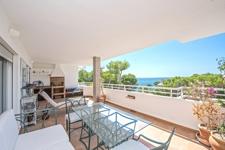Unglaublicher Meerblick von schöner Terrasse in Wohnung zu verkaufen Cala Vinyas