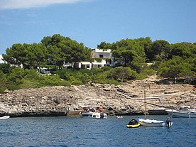 Ibiza style villa on the seafront  in a quiet  sheltered litlle beach