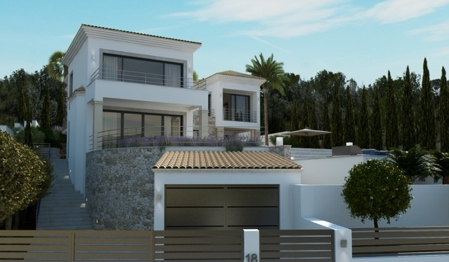 1 Newly built villa with breathtaking sea views in Nova Santa Ponsa