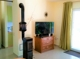 Holzofen im Wohnzimmer