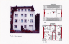 Fassade und Grundriss