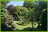 Der parkähnliche Garten.