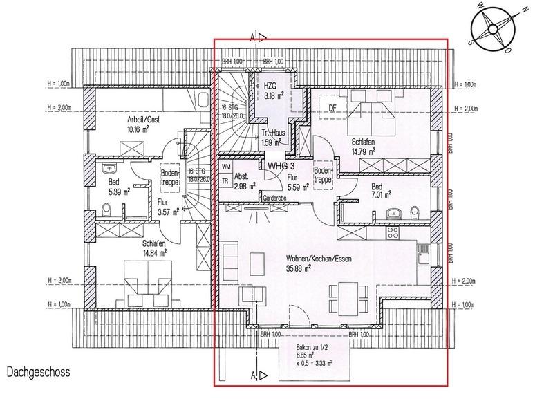 Grundriss Dachgeschoss - 3