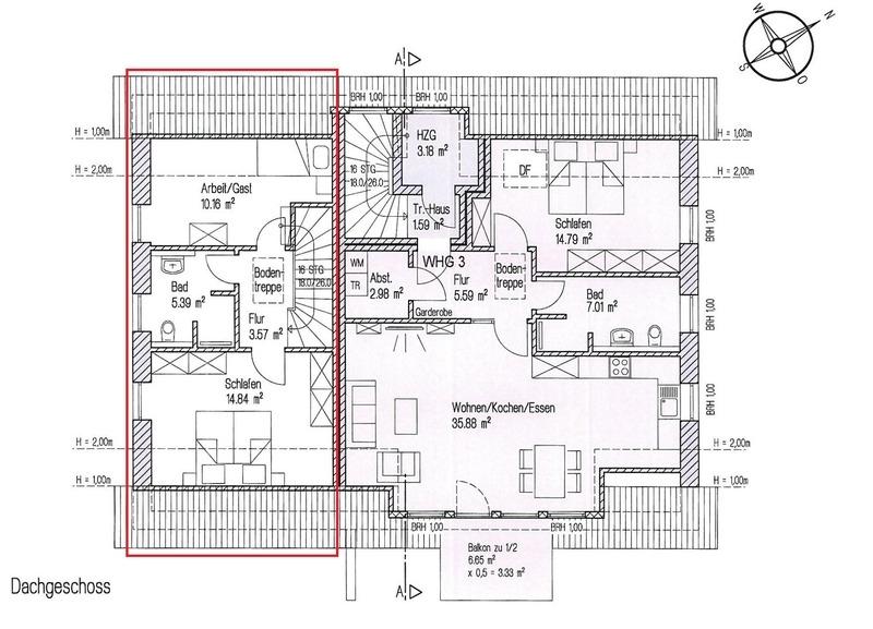 Grundriss Dachgeschoss - 2