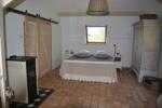 Schlafzimmer mit Pelletofen