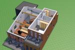 Isometrie Obergeschoss