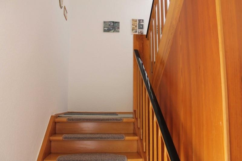 Wohnliche Holztreppe