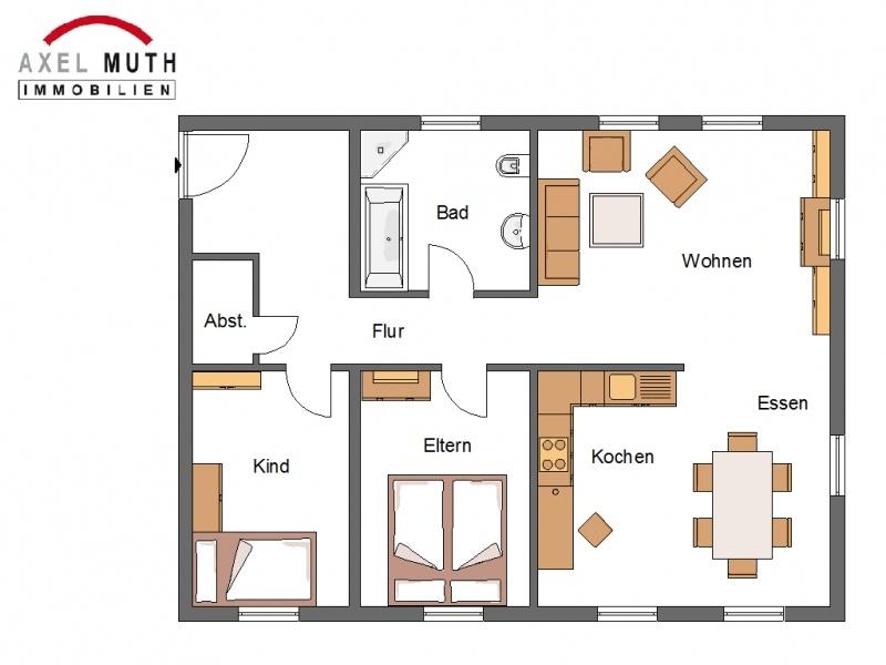 Genialer Grundriss für Ihre Wohnwünsche