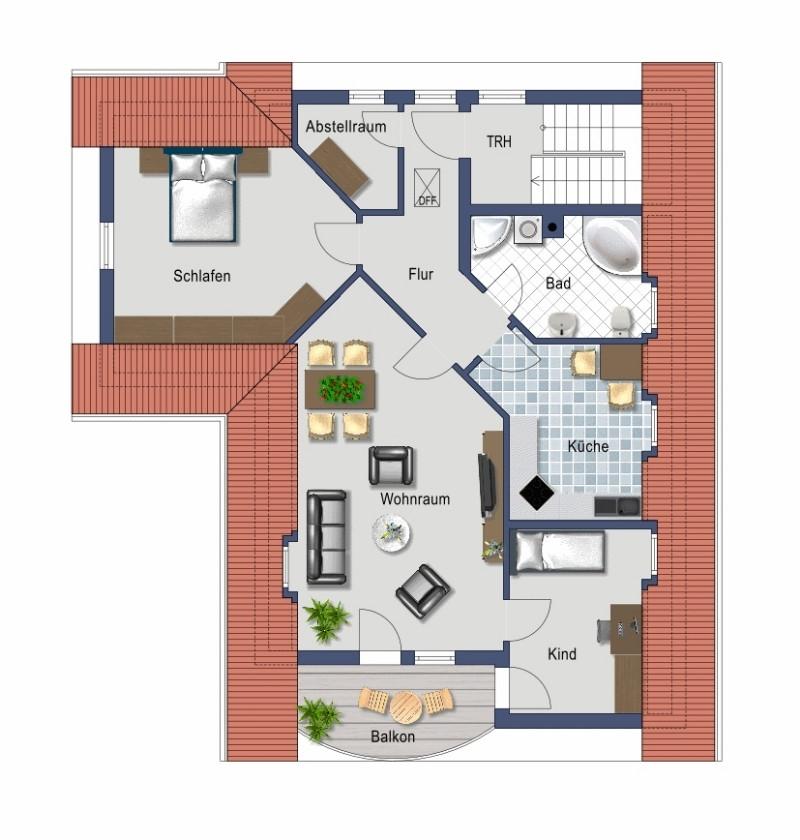 3-Zimmer unterm Dach