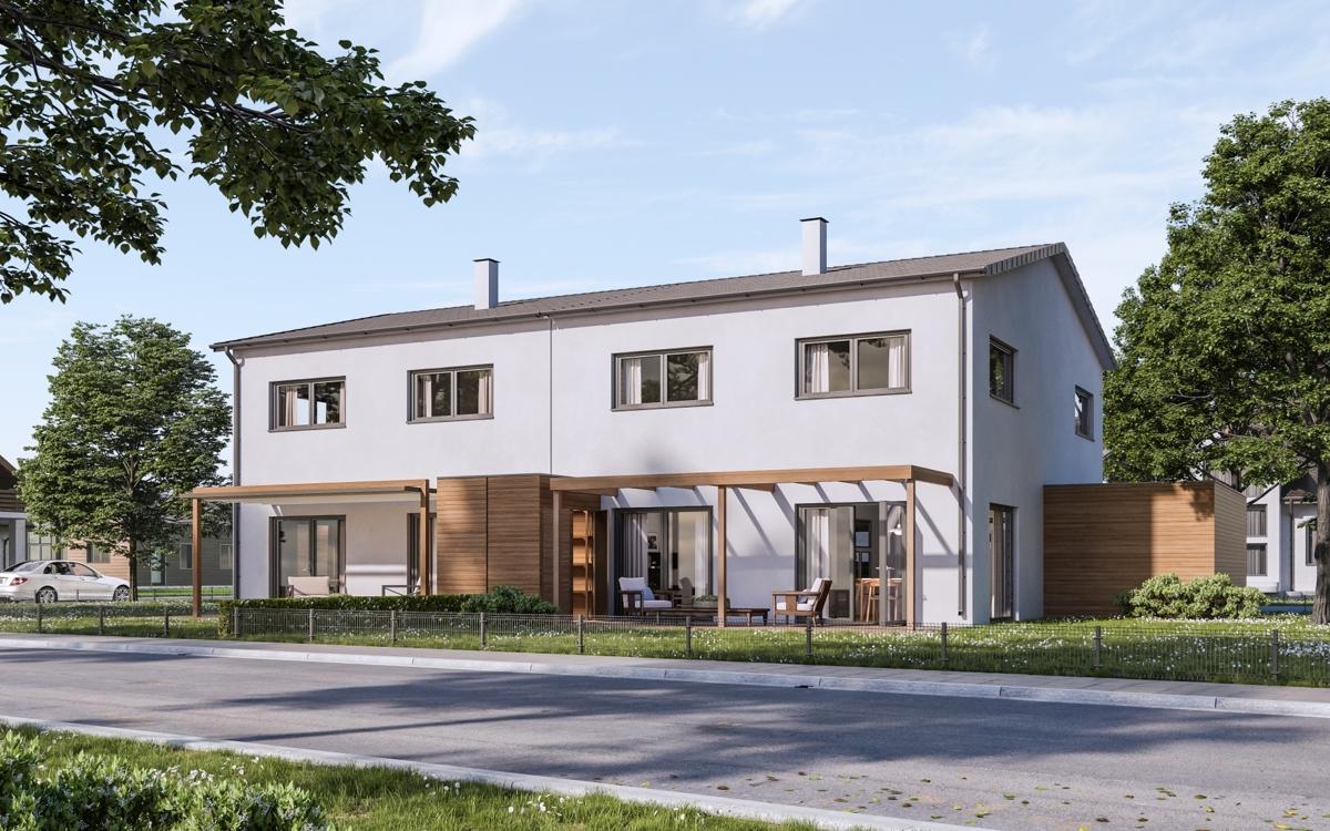 Aussenansicht Doppelhaus Berching