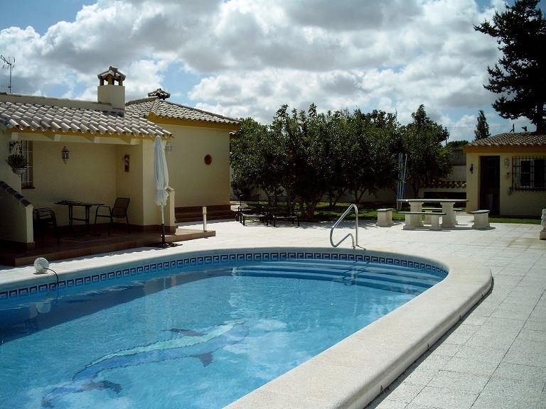 Pool, Blick Porche