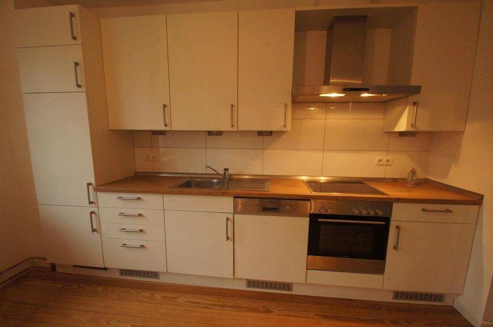 Moderne Küchenzeile.