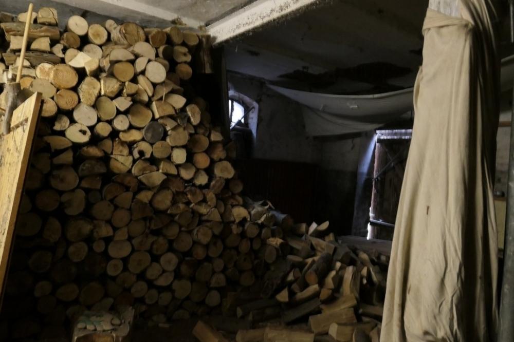 Garage als Holzlager