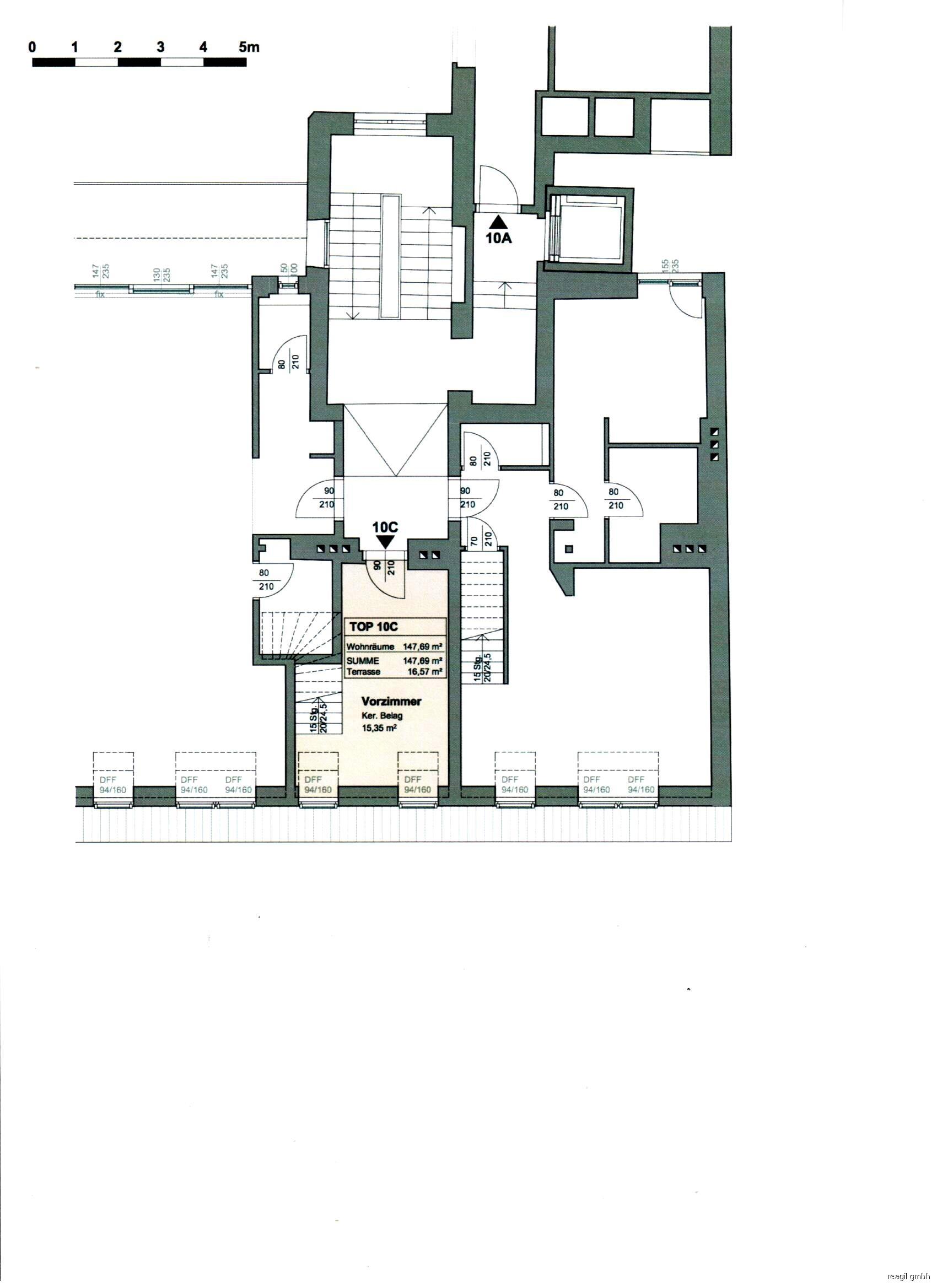 Plan 1.Ebene Eingangsbereich